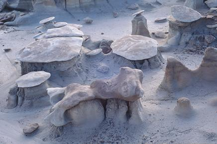 Photography from the Bisti Badlands