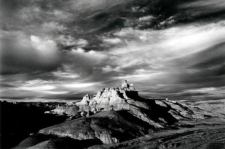 black and white picture from the bisti