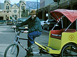 pedicab driver on the santa fe plaza